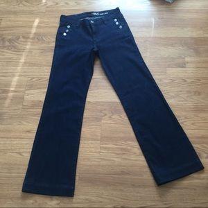 GAP Wide Leg Jeans Blue Dark Wash Boho EUC